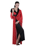 Red & Black Printed Nightgown , Nightgowns - vixenwrap, Vixenwrap - 5