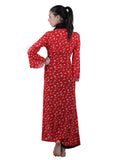 Red & Black Printed Nightgown , Nightgowns - vixenwrap, Vixenwrap - 4