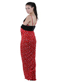Red & Black Printed Nightgown , Nightgowns - vixenwrap, Vixenwrap - 8