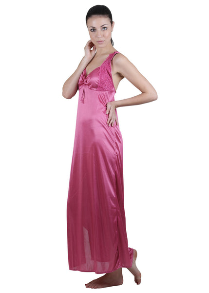 Pink Solid Nightgown , Nightgowns - vixenwrap, Vixenwrap - 7