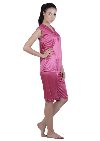 Pink Solid Nightgown , Nightgowns - vixenwrap, Vixenwrap - 10