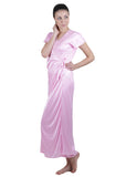 Pink Solid Nightgown , Nightgowns - vixenwrap, Vixenwrap - 3