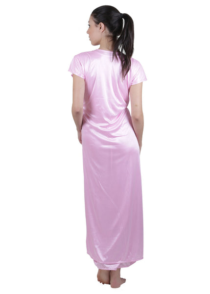 Pink Solid Nightgown , Nightgowns - vixenwrap, Vixenwrap - 4