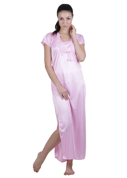 Pink Solid Nightgown , Nightgowns - vixenwrap, Vixenwrap - 5