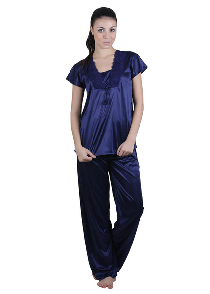 Blue Solid Nightgown , Nightgowns - vixenwrap, Vixenwrap - 9