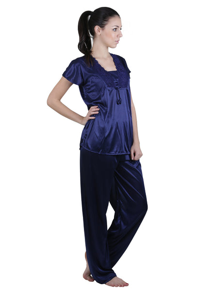 Blue Solid Nightgown , Nightgowns - vixenwrap, Vixenwrap - 10