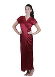 Red Solid Nightgown , Nightgowns - vixenwrap, Vixenwrap - 2