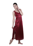 Red Solid Nightgown , Nightgowns - vixenwrap, Vixenwrap - 4