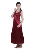 Red Solid Nightgown , Nightgowns - vixenwrap, Vixenwrap - 5