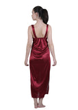 Red Solid Nightgown , Nightgowns - vixenwrap, Vixenwrap - 6