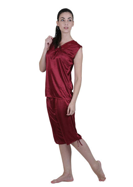 Red Solid Nightgown , Nightgowns - vixenwrap, Vixenwrap - 9