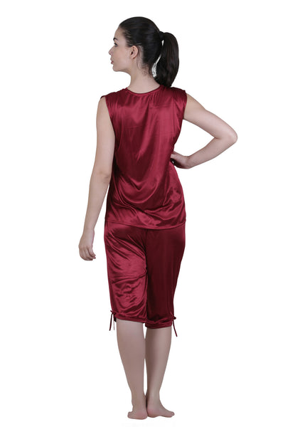 Red Solid Nightgown , Nightgowns - vixenwrap, Vixenwrap - 10
