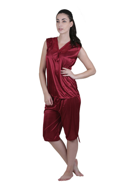 Red Solid Nightgown , Nightgowns - vixenwrap, Vixenwrap - 7