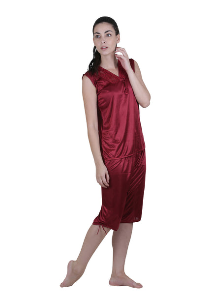 Red Solid Nightgown , Nightgowns - vixenwrap, Vixenwrap - 8