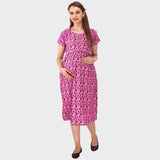 Multi Pink Printed Maternity Dress