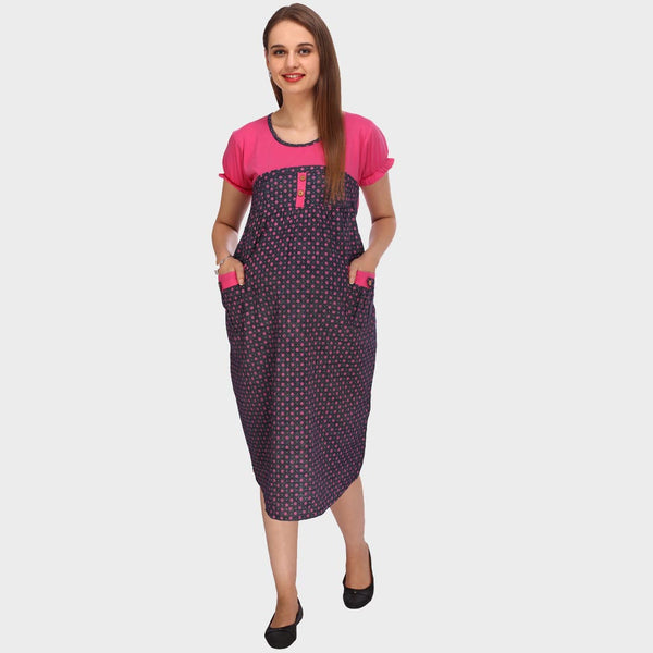 28ae75496bb89 Purple & Hot Pink Printed Maternity Dress – Vixenwrap