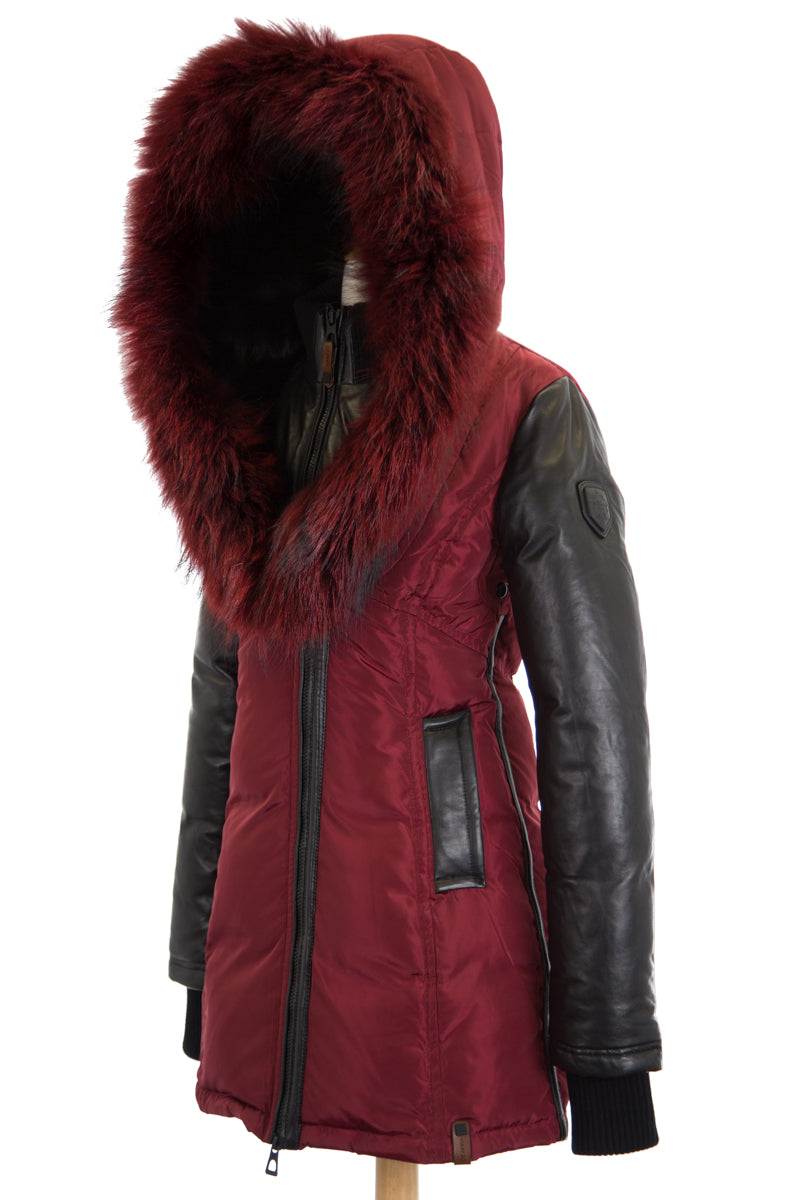 Dejavu 8037 Coat with Fur Trim