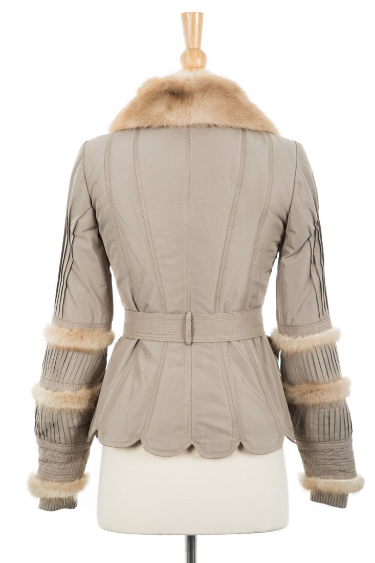 Tasche Jacket With Fur Trim