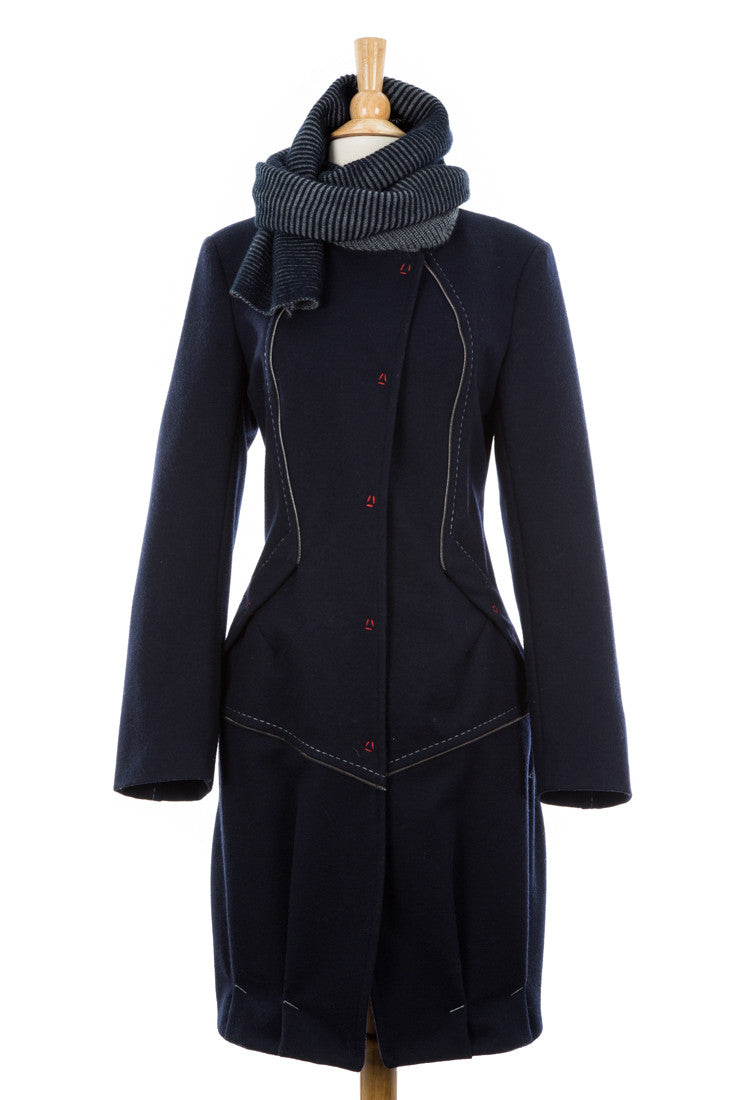 Selection Wool Trench Coat With Scarf