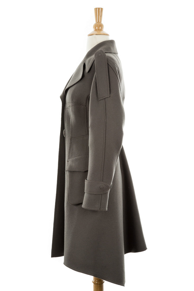 Cool Grey Wool Coat