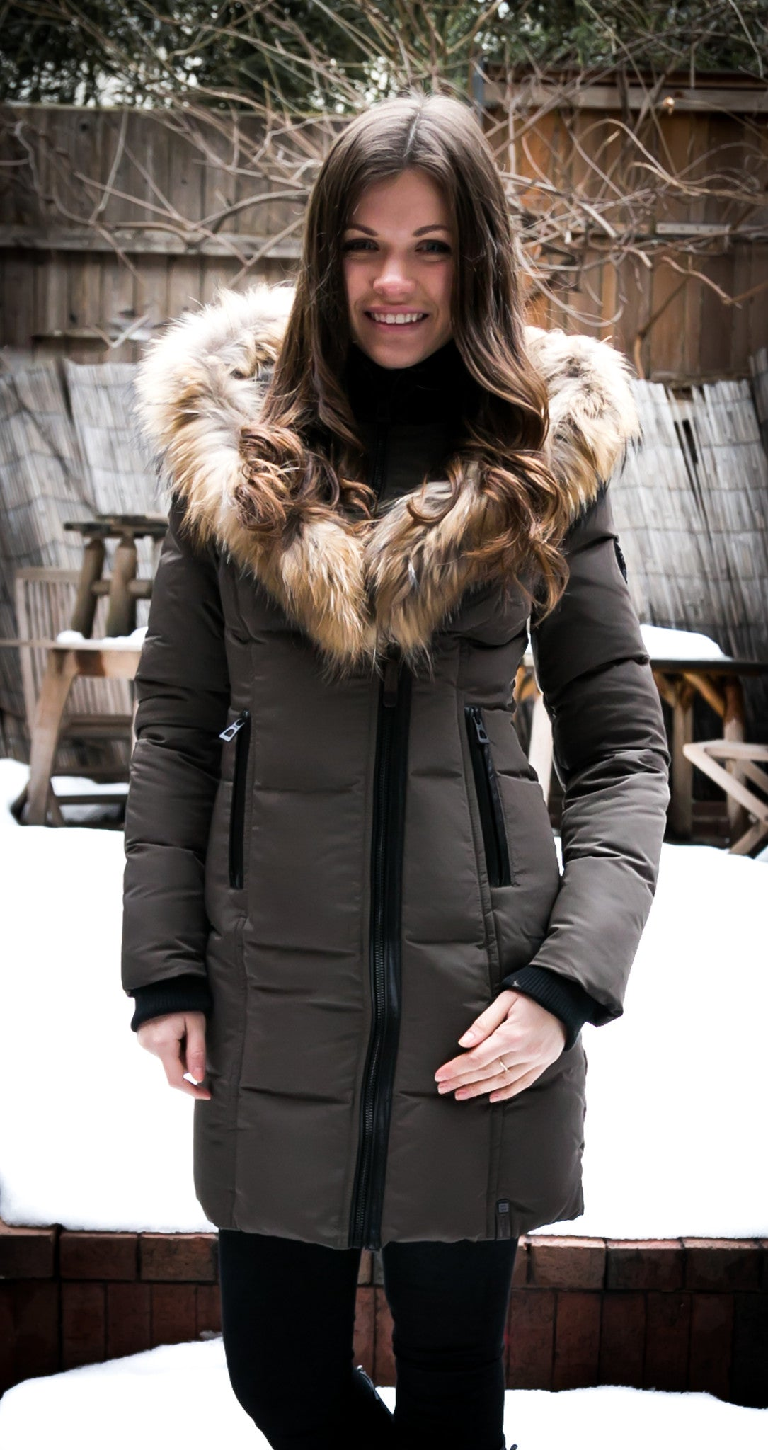 Cadro Down Parka Jacket With Fur Trim