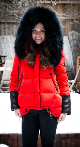 Sophie Down Jacket With Fur Trim