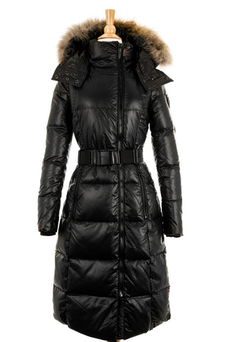 Colima Hooded Down Jacket With Fur Trim - Dejavu NYC