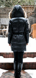 Geller Down Jacket With Fur Trim - Dejavu NYC