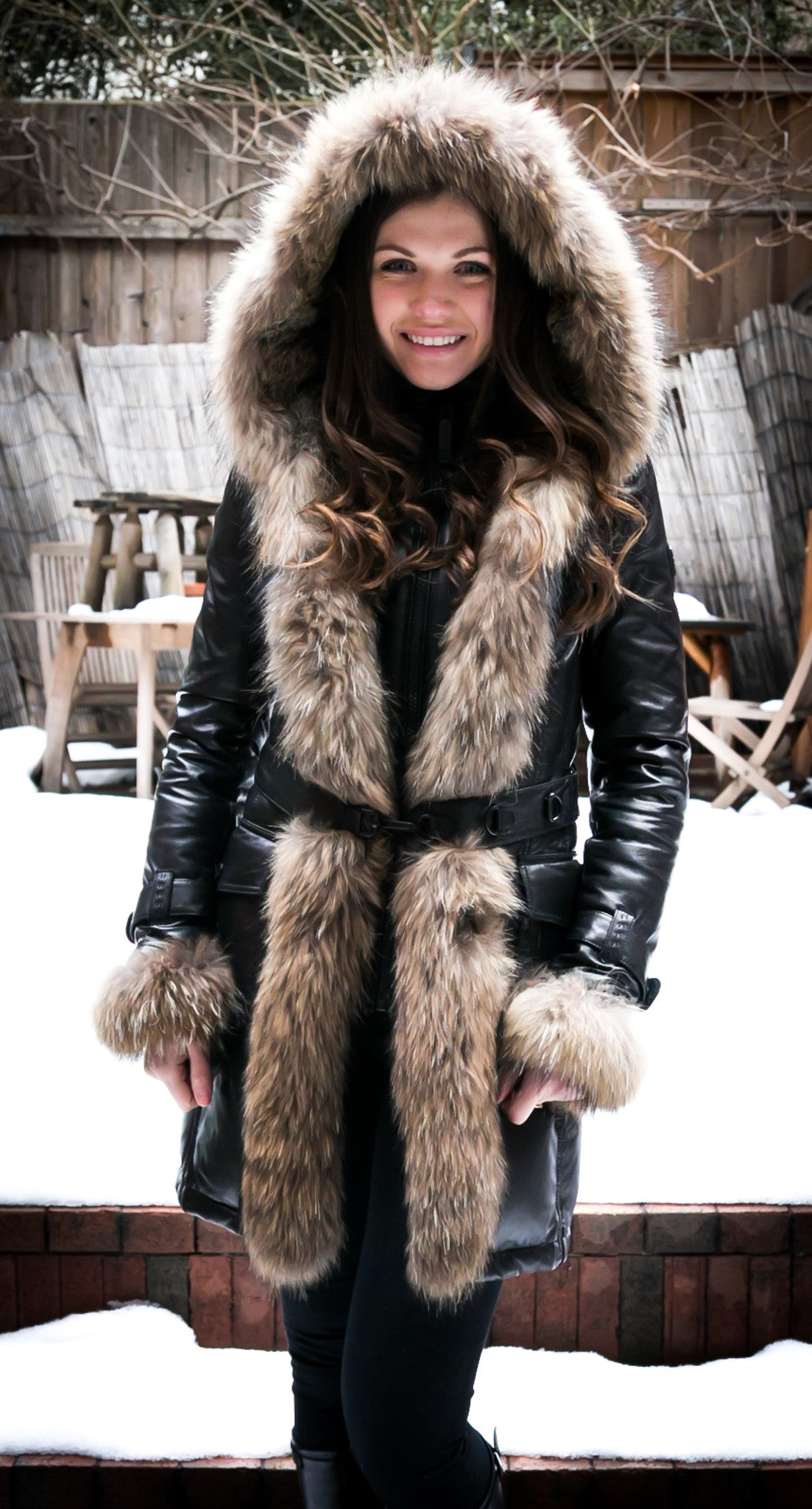 cc908ca7879e Rita Down Coat With Fur Hood - Dejavu NYC