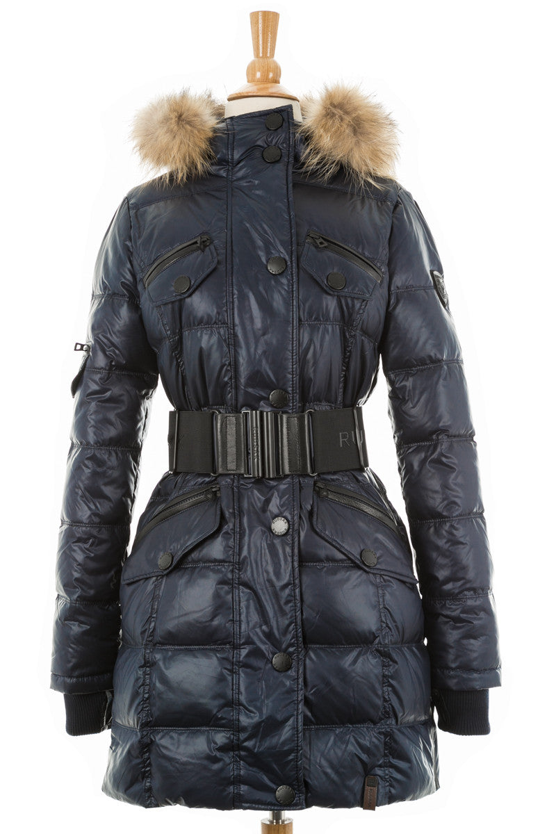 Gloria Puffer Coat With Fur Trim