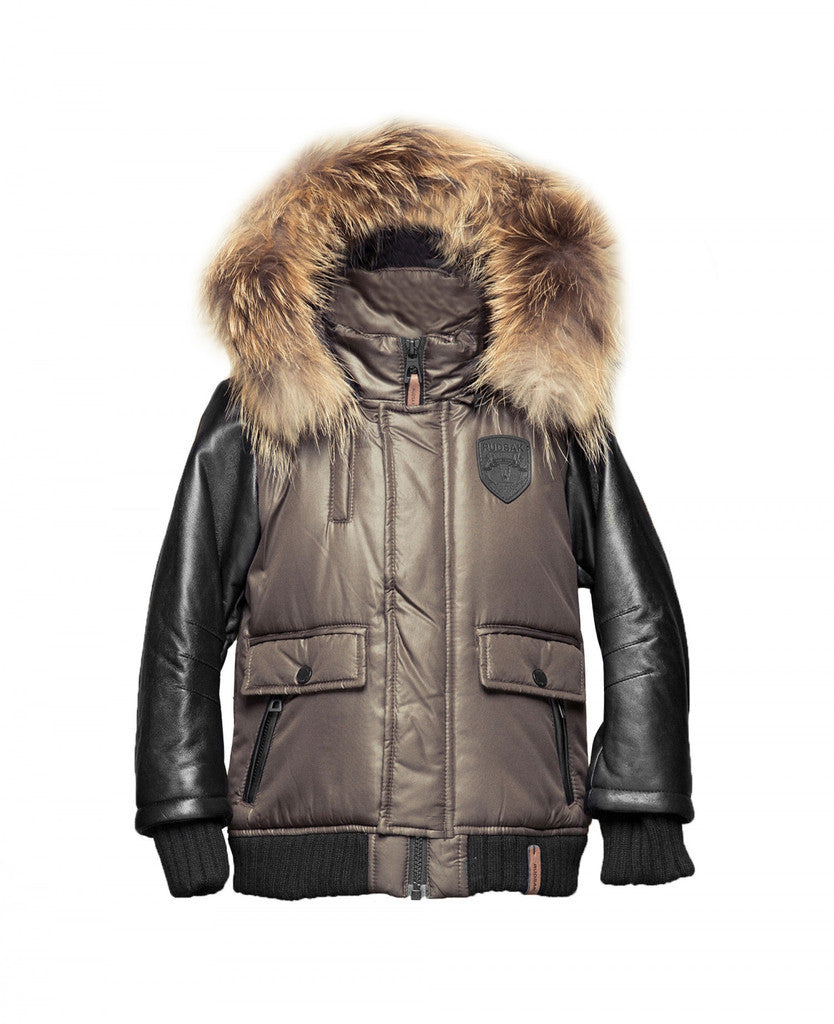 Lulu Unisex Jacket With Fur Trim