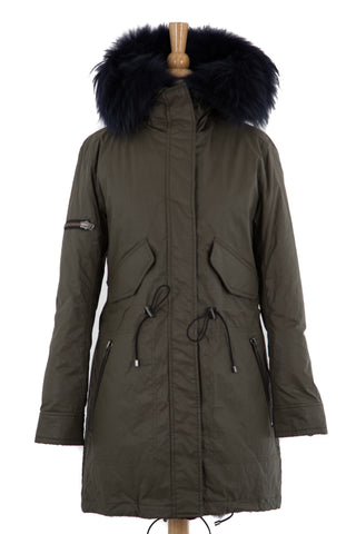 Luxe Limelight Parka with Fur - Dejavu NYC