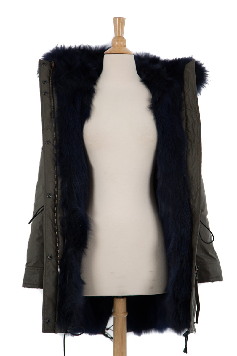Luxe Limelight Parka with Fur