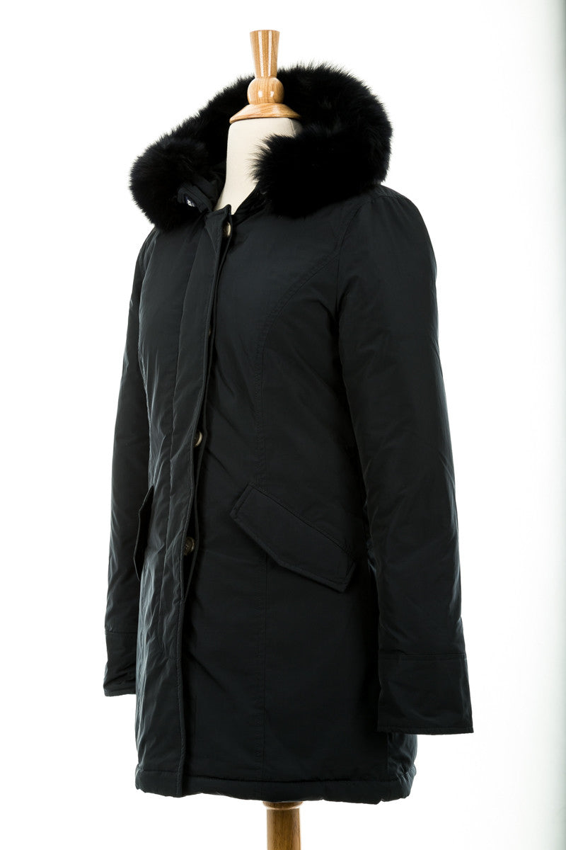 Luxe Arctic Parka with Fur Trim