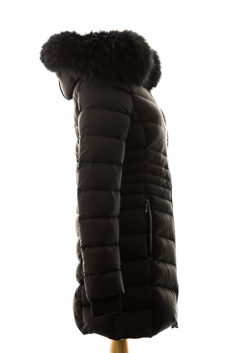 Malefica Down Parka with Fur Trim
