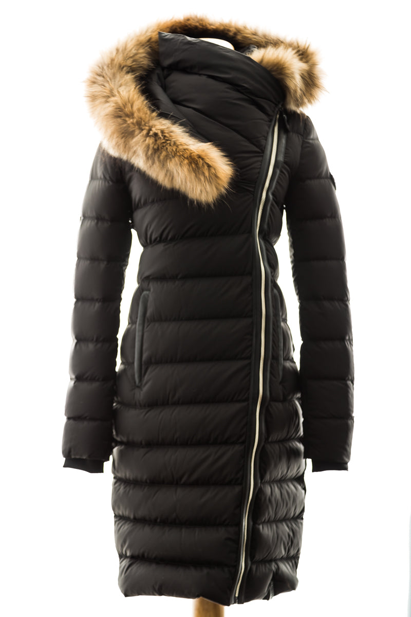 Melodic Coat with Fur Trim