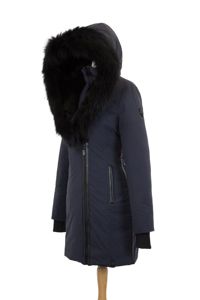 Monkland Down Parka With Fur Trim