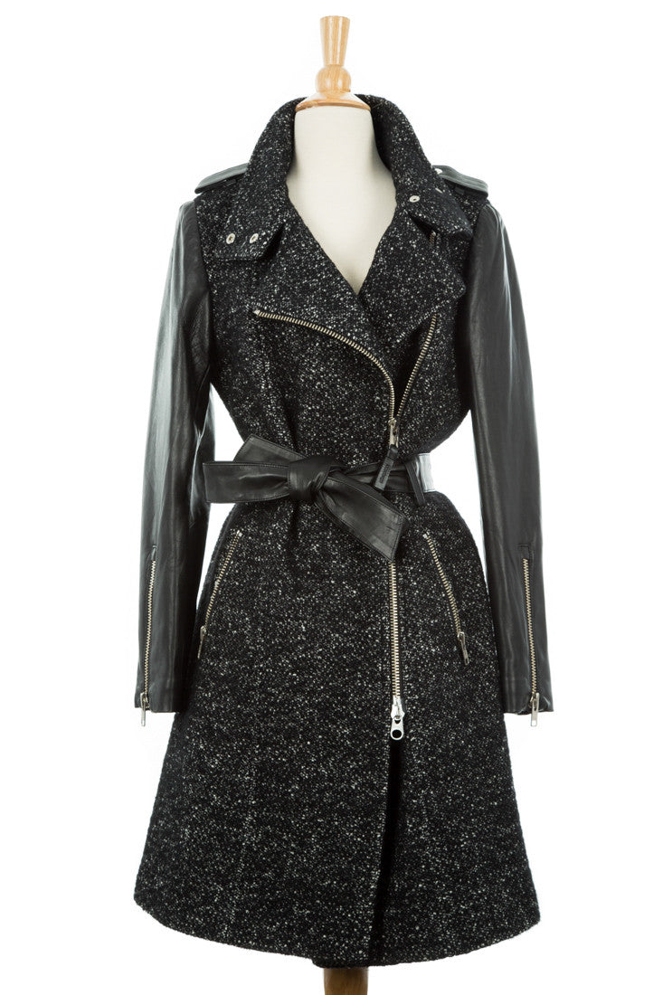 Xia Belted Wool Trench Coat