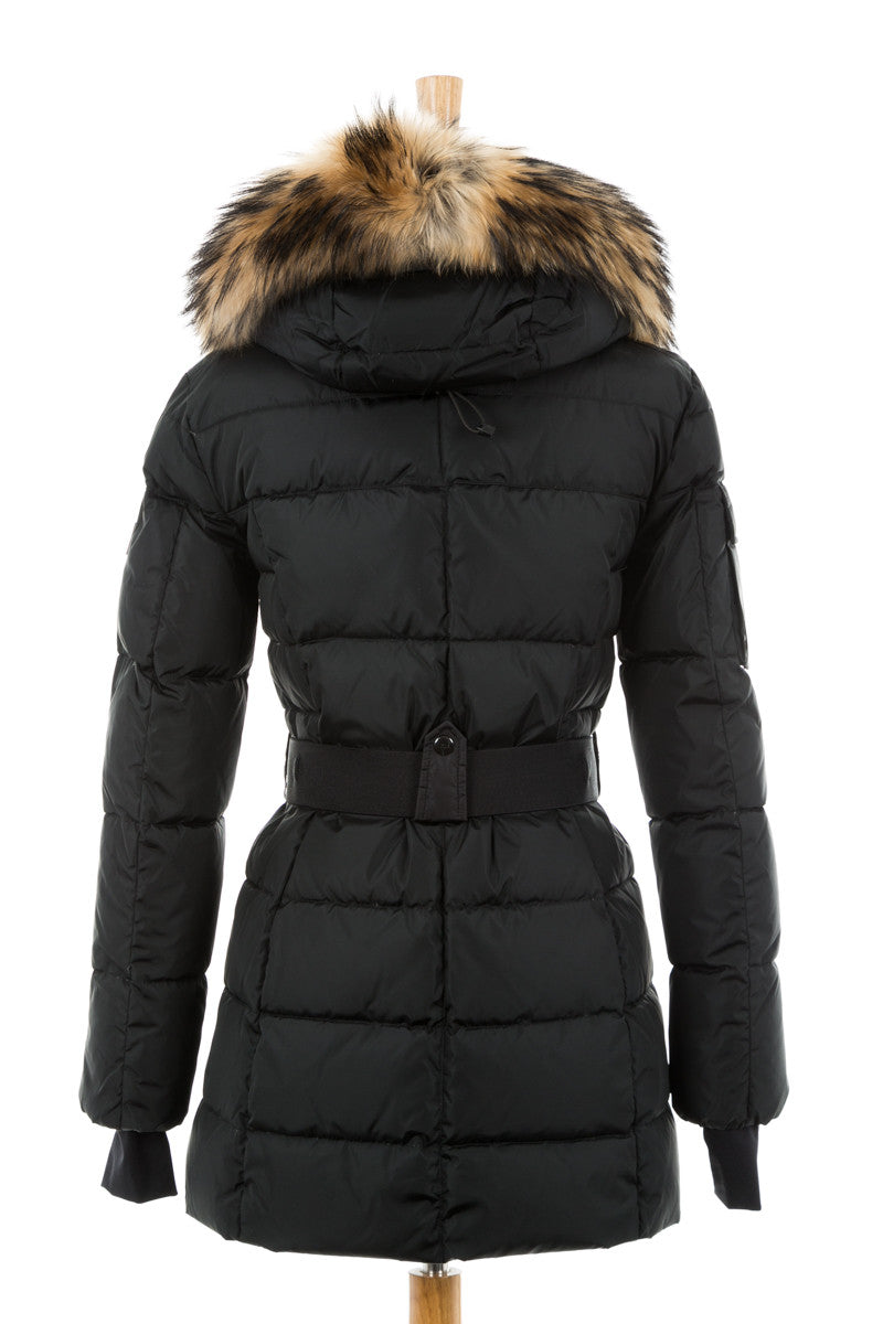 Matte Millennium Puffer Coat With Fur Trim