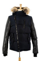 McQueen Leather Sleeved Bomber With Fur - Dejavu NYC