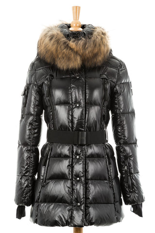 Millennium Puffer Coat With Fur - Dejavu NYC