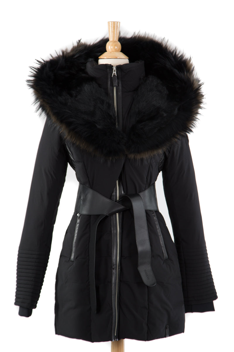 Moda Down Coat With Fur