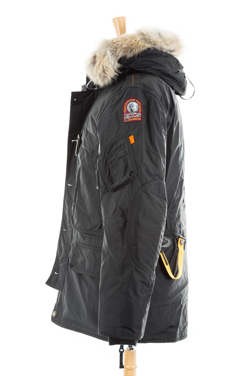 parajumpers men's kodiak jacket black down parka