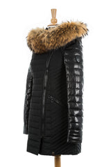 Connington Leather Sleeved Jacket with Fur Trim - Dejavu NYC