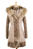 Colatina Leather Sleeved Parka With Fur Trim - Dejavu NYC