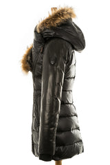 Roya Puffer With Fur Trim