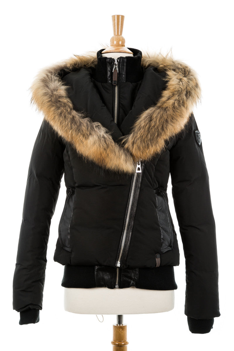 Caballo Down Bomber With Fur Trim