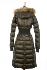 Genie Hooded Down Coat With Fur Trim - Dejavu NYC