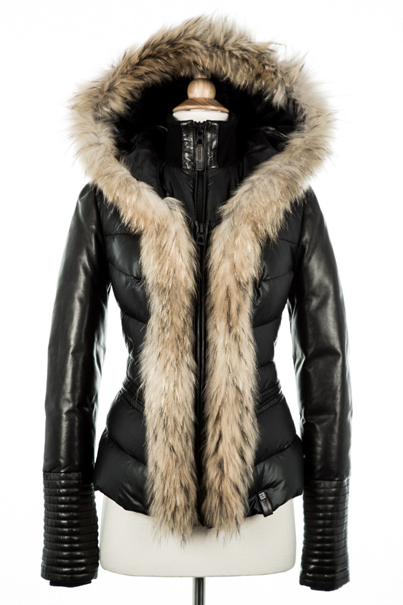 Maria Down Jacket With Fur Trim