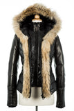 Maria Down Jacket With Fur Trim - Dejavu NYC